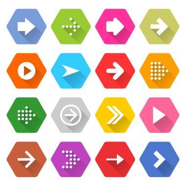 16 arrow icons