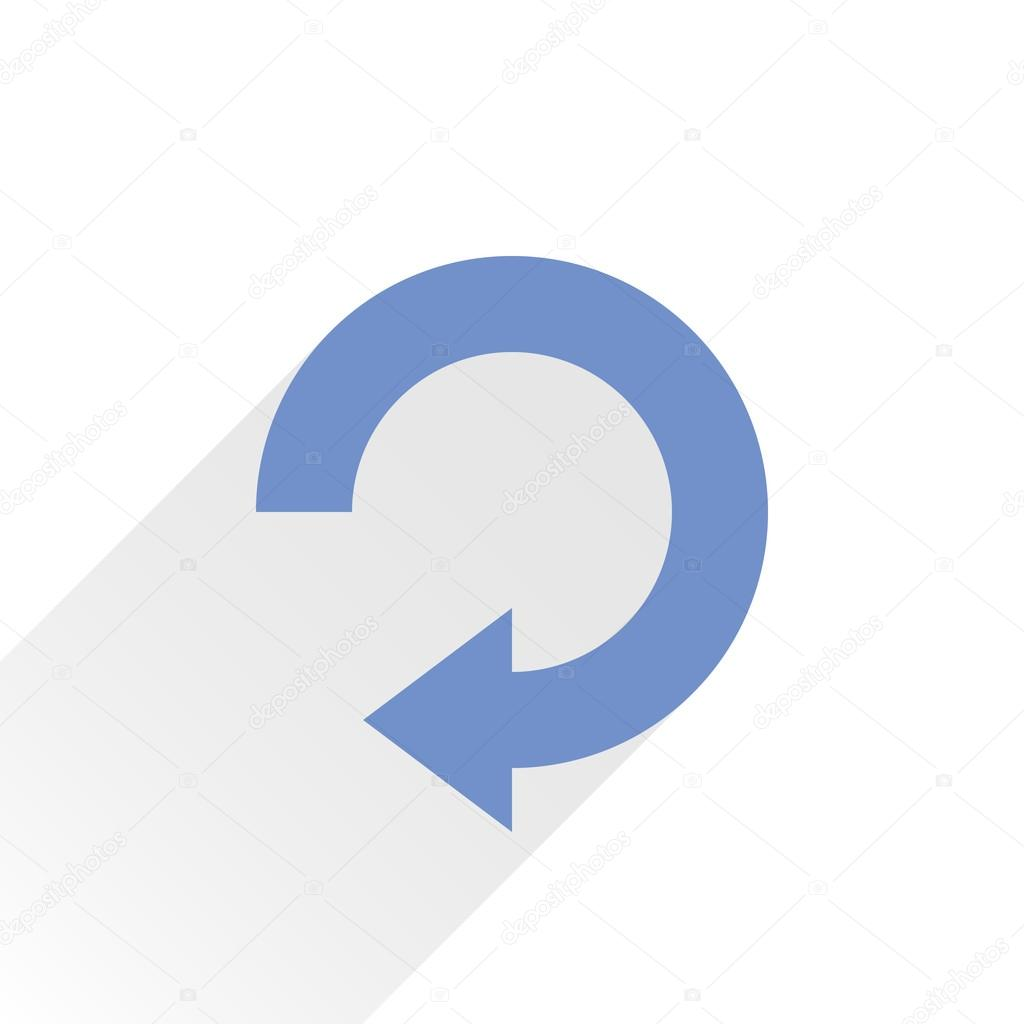 blue arrow icon reload refresh rotation reset repeat