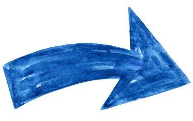 Blue arrow sign
