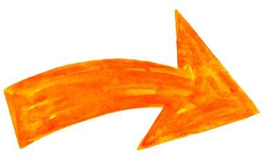 Orange arrow sign