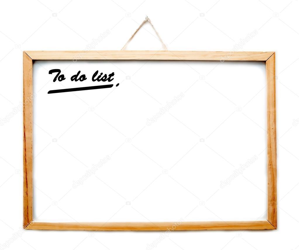 To do list on whiteboard — Stock Photo © mozakim #57654603