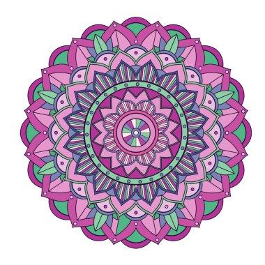 Mandala patterns on isolated background illustration icon