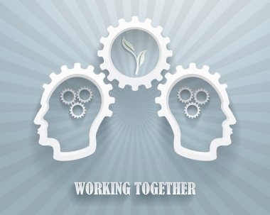 Working Together Illustration Background