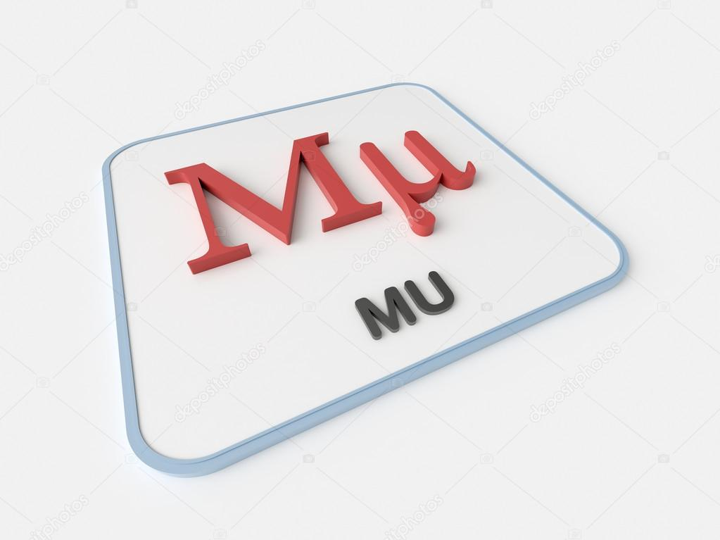 Mu Greek Symbol Stock Photo Infografx 85175964