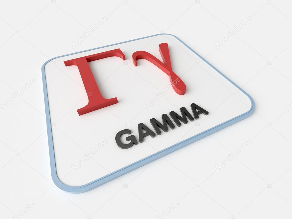 Gamma Greek Symbol Stock Photo Infografx 85175968