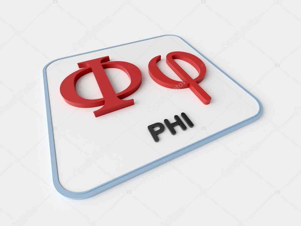 Phi Greek Symbol Stock Photo Infografx 85176016