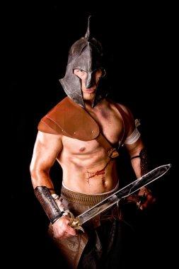 gladiator isolated in dark