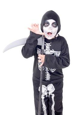 kid at halloween