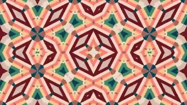 Fantasy Colored Kaleidoscope Background Loop
