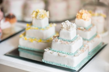 beautiful wedding cake white