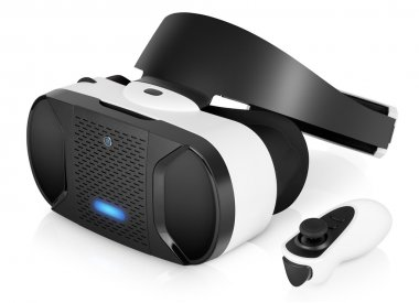 VR virtual reality headset with game controller