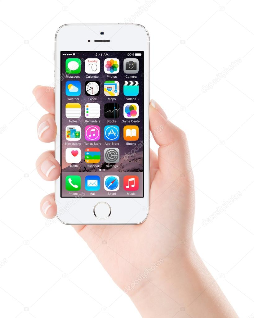 does iphone 5s have wifi calling apple silver iphone 5s displaying ios 8 in 18385