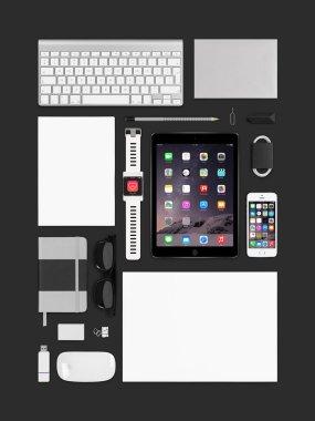 Apple ipad air 2, iphone 5s, keyboard, magic mouse and smartwatc