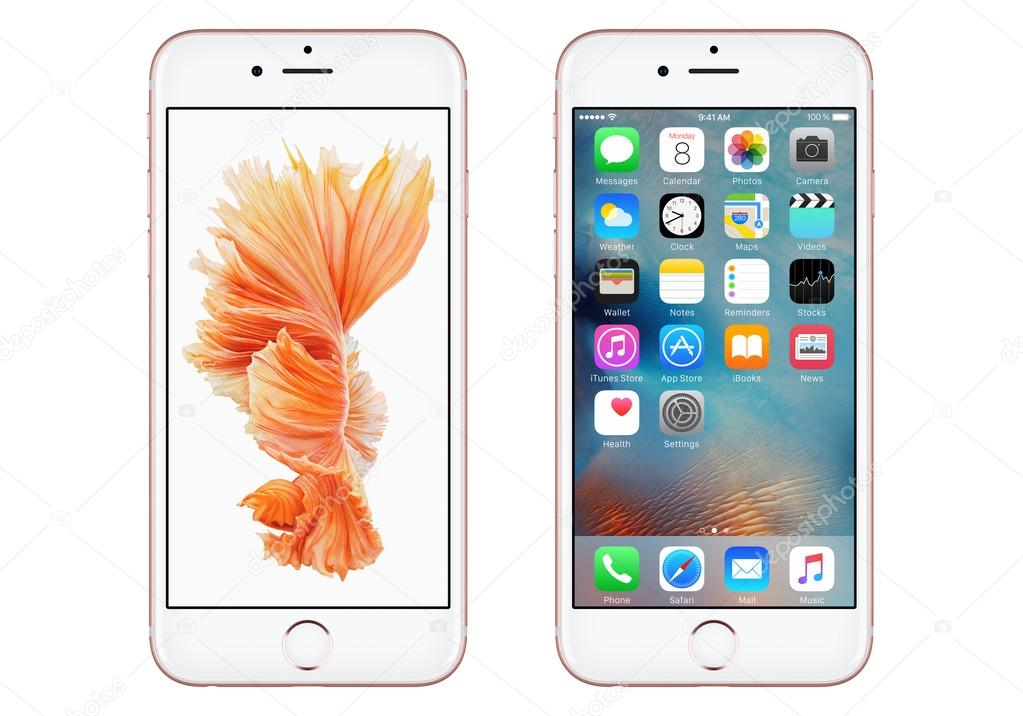 Papel De Parede Ios 8: Rose Ouro Apple Iphone 6s Com Ios 9 E Papel De Parede