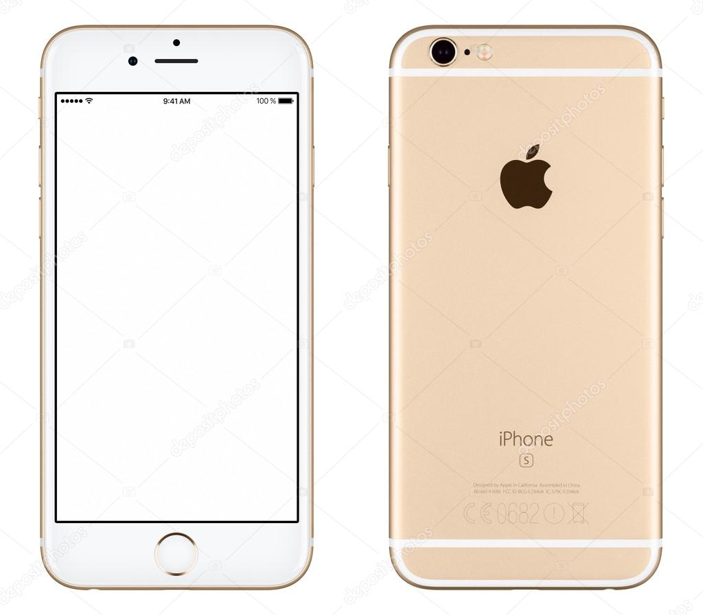 iphone 6s stock gold apple iphone 6s mockup front view and back side 3473