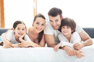 happy family fooling around