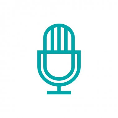Microphone icon. Concept flat style design illustration icon.