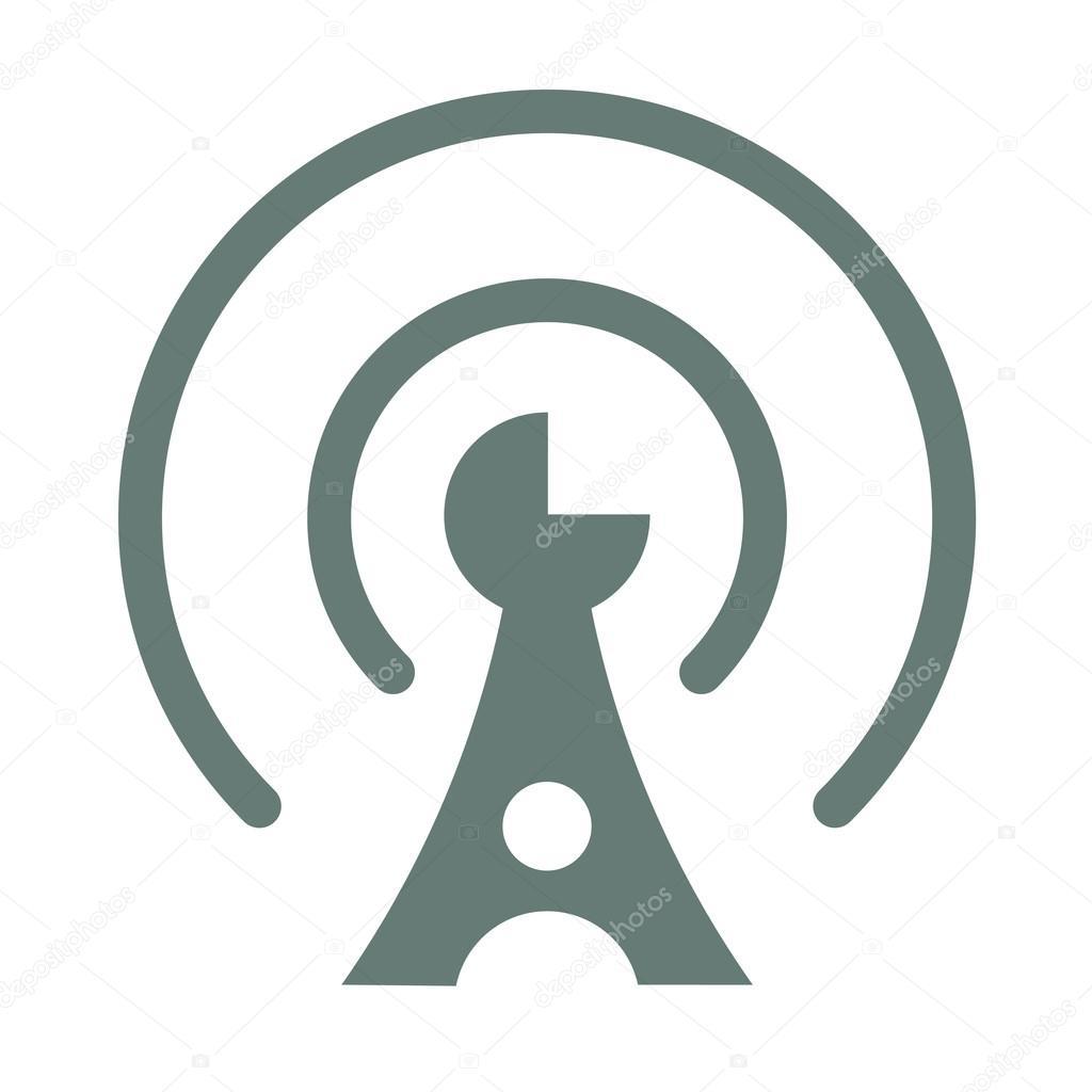 通信 - 通信タワーのアイコン - ストック イラスト — ストックベクター