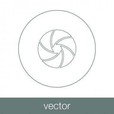 Camera shutter concept icon. Stock illustration flat design icon