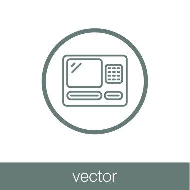 atm icon. Atm money slot concept icon.
