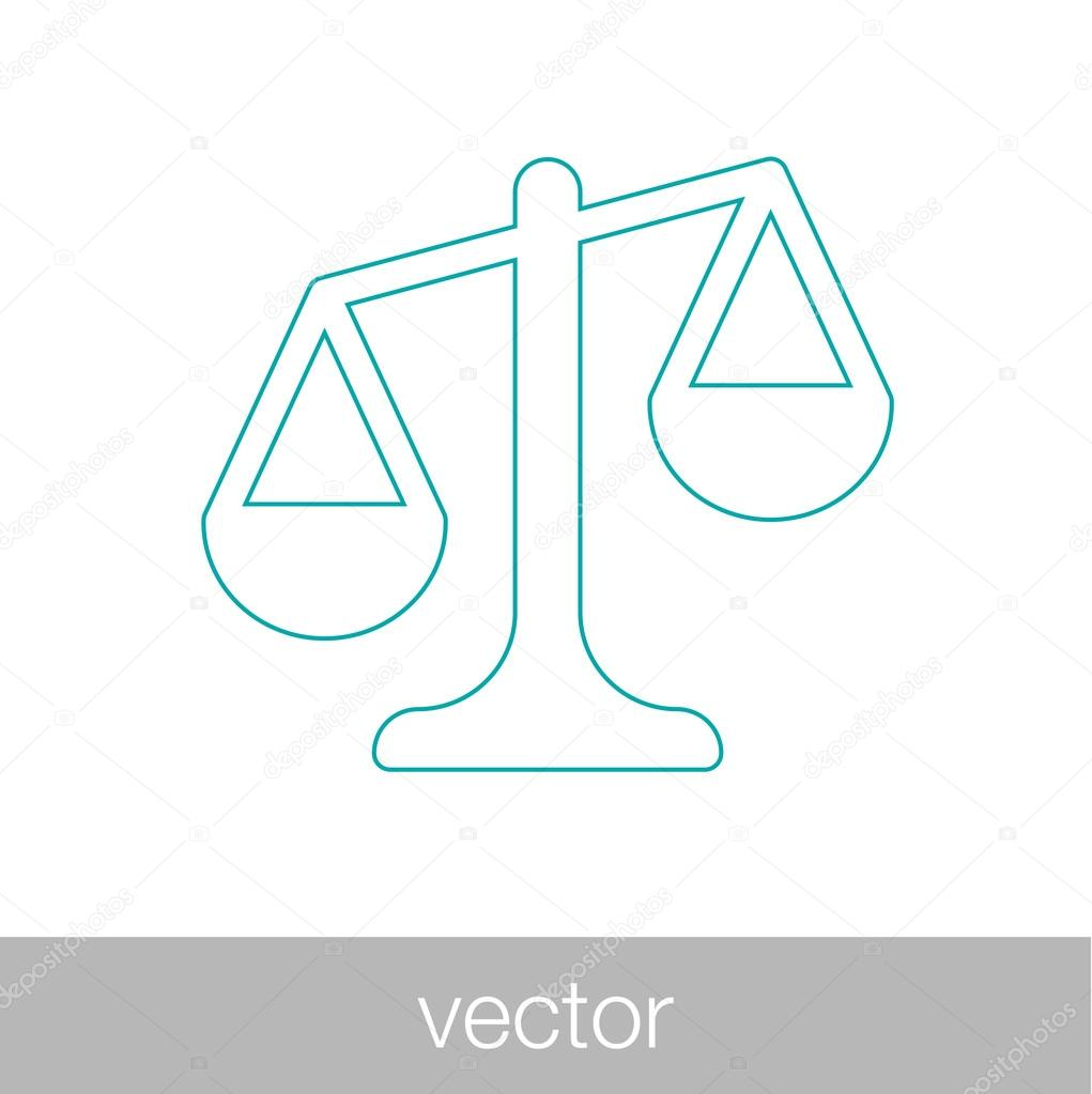 Symbol Of Law And Justice Law And Justice Concept Stock Vector