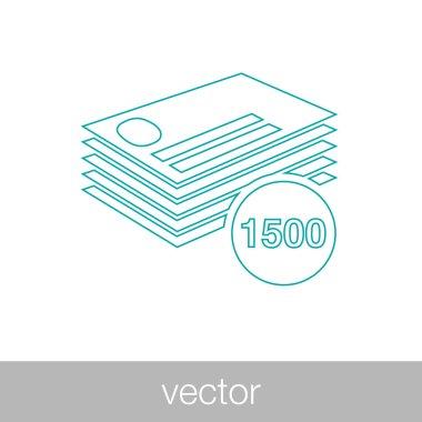 Finance and money icon. Stock illustration flat design icon