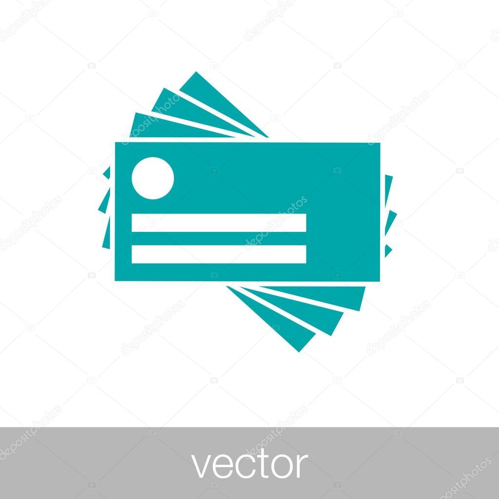 Icne De La Carte Visite Image Vectorielle