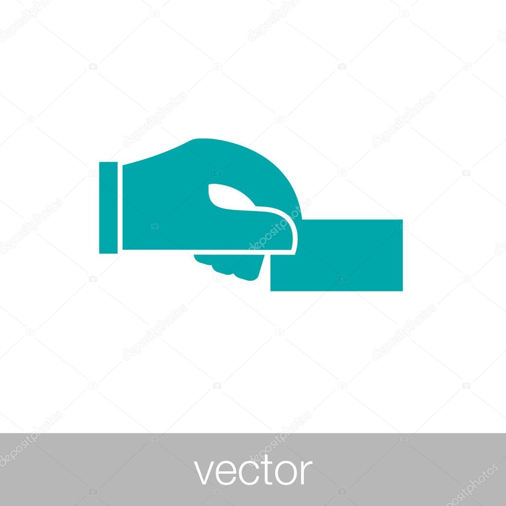 Hand holding business card icon vetores de stock hand holding business card icon vetores de stock reheart Gallery