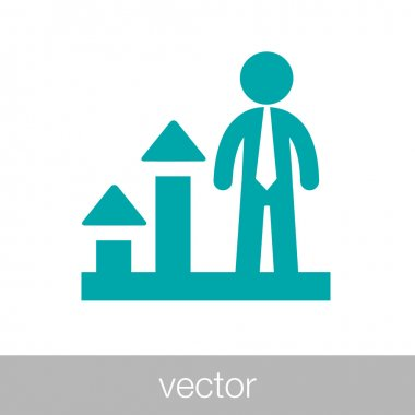 Businessman presenting business growth - Business icon