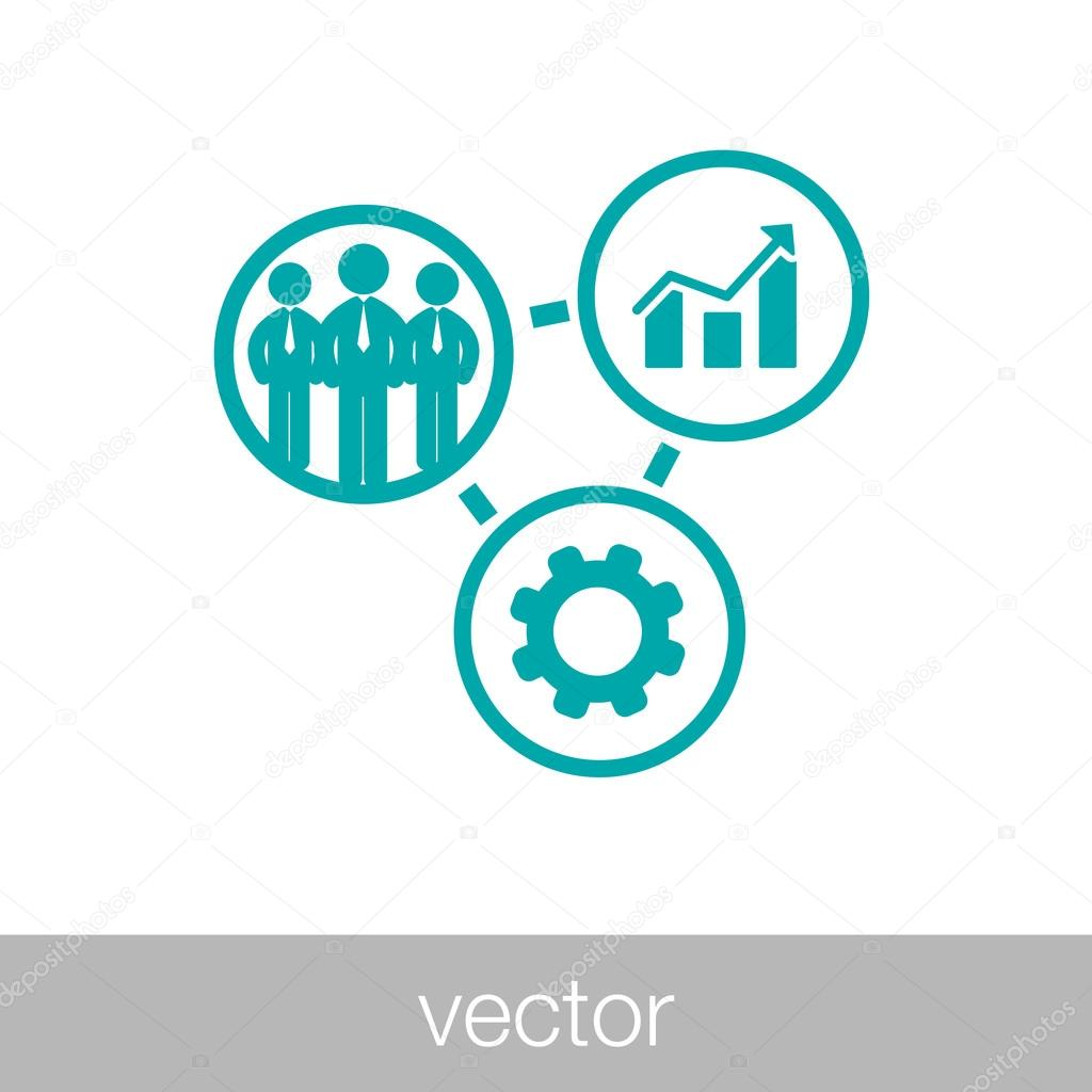 business icon process of development and production icon