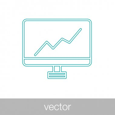 Monitoring icon. Growth Chart Icon
