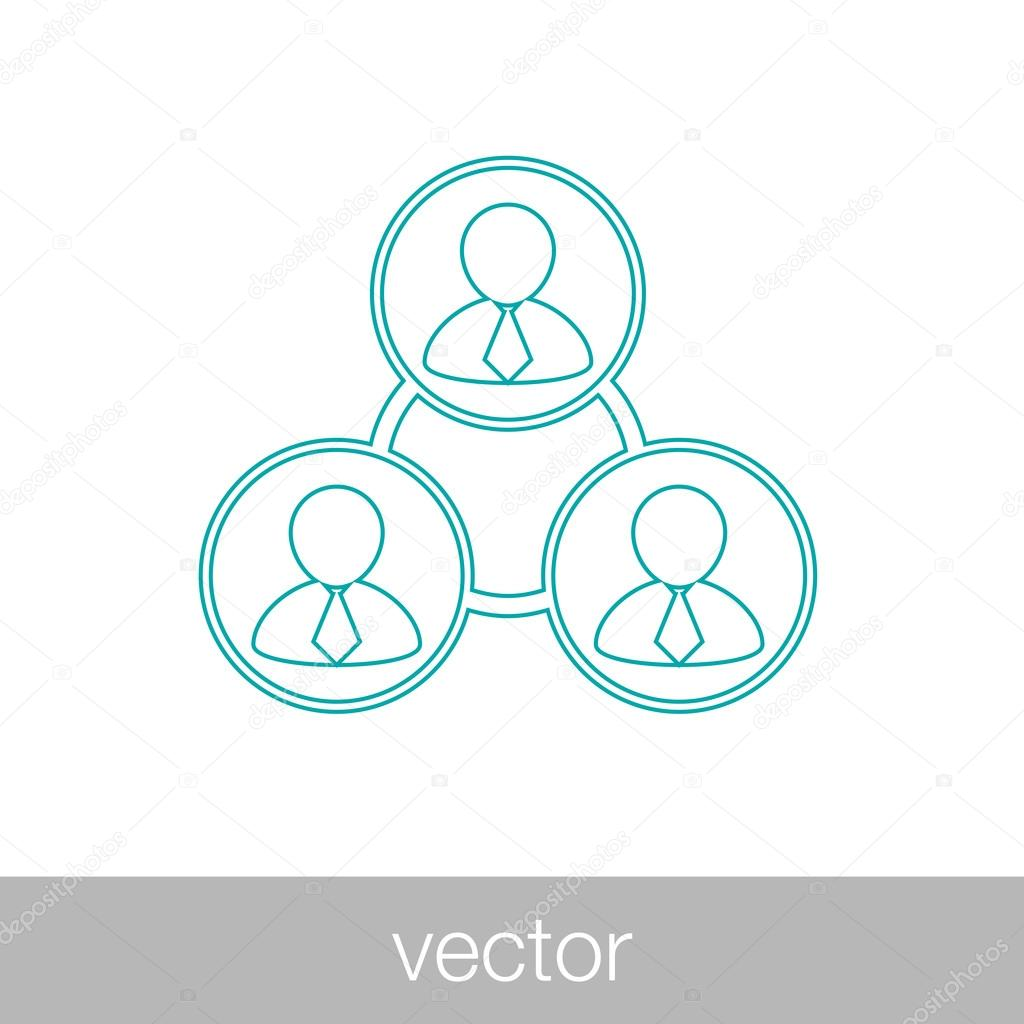 Netzwerksymbol symbol gesch ft netzwerk icon business for Business netzwerk