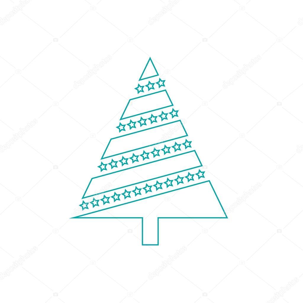 Weihnachtsbaum Textsymbol