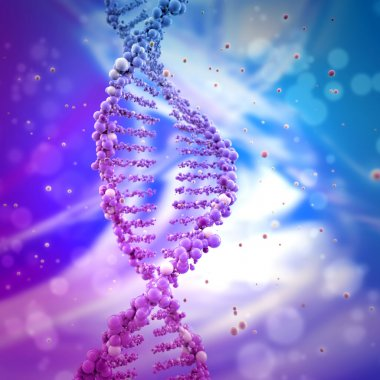 Dna double helix in abstract background