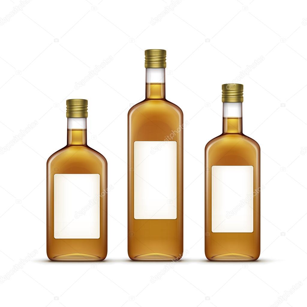 Vektor-Satz von Alkohol alkoholische Getränke trinkt Whiskey-Glas ...