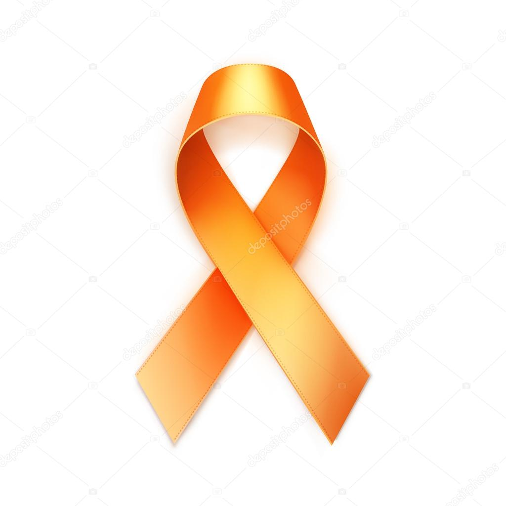 vector orange yellow breast cancer ribbon isolated on white rh depositphotos com breast cancer symbol vector breast cancer free vector