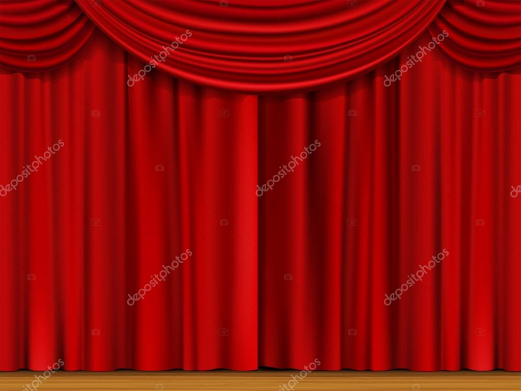 escena del vector con cortinas rojas archivo imgenes vectoriales - Cortinas Rojas
