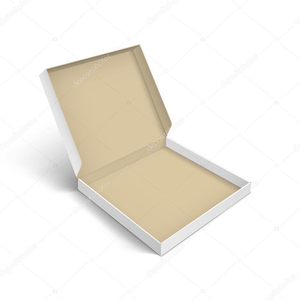 Plantilla de embalaje caja pizza aislado — Archivo Imágenes ...