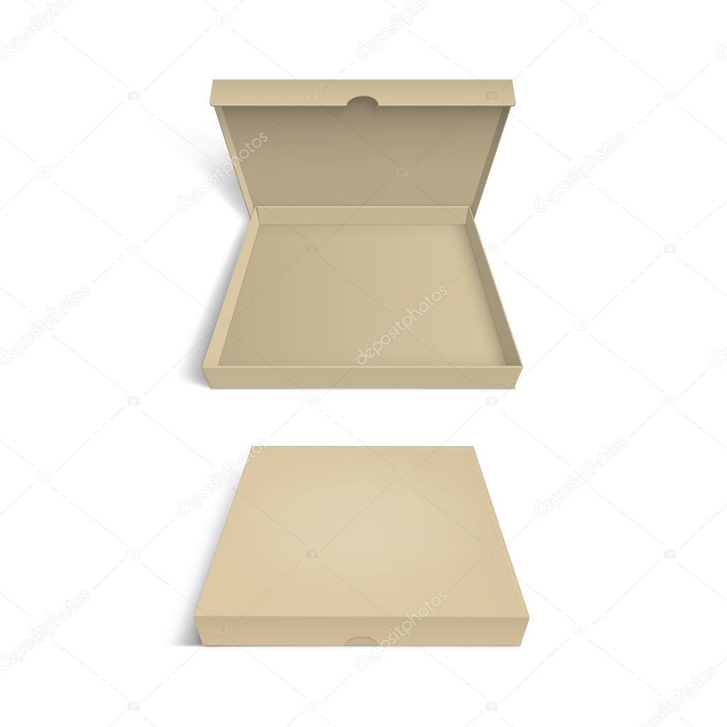 分離されたピザ ボックス パッケージ テンプレート ストックベクター