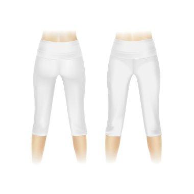 Vector White Leggings Pants Isolated