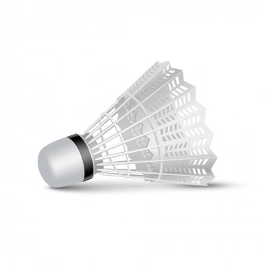 Vector Badminton Shuttlecock Isolated on White
