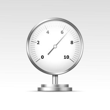 Vector Illustration of Pressure Gauge Manometer Isolated clip art vector