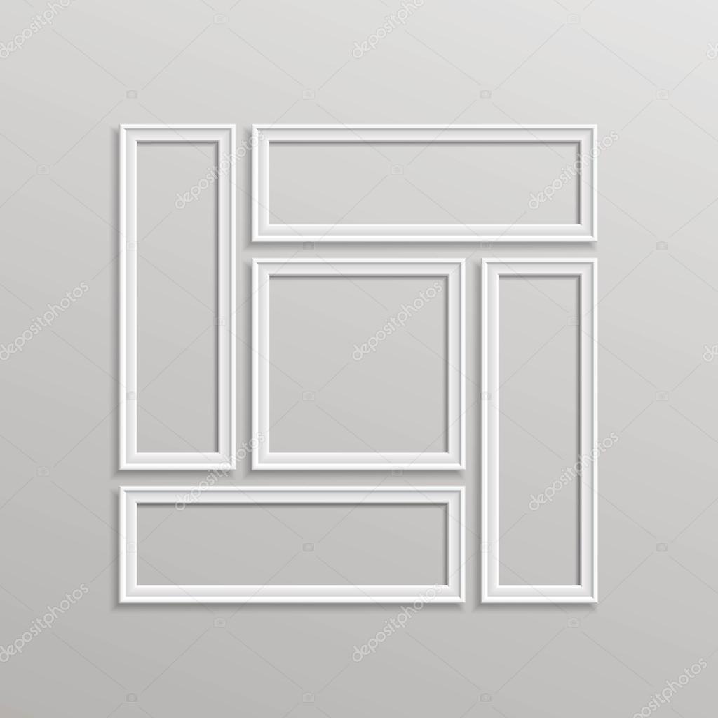 Vector de composición de plantilla del marco de cuadro en blanco ...