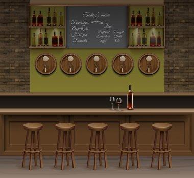 Bar Cafe Beer Cafeteria Counter Desk Interior