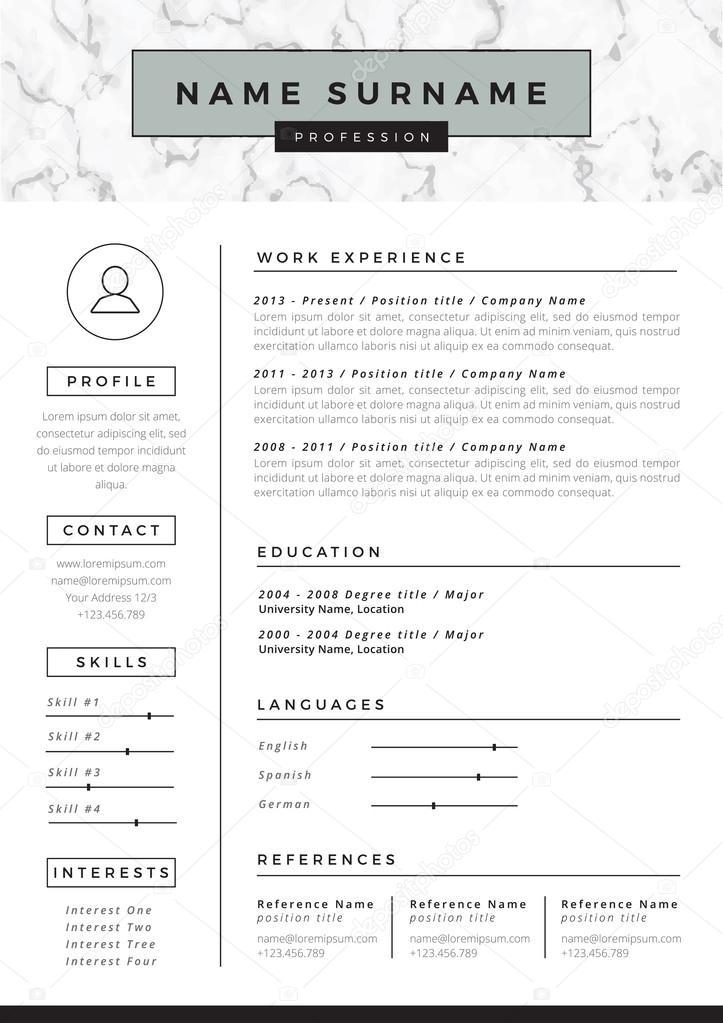 Curriculum Para Imprimir En Blanco Plantilla De Curriculum Vitae