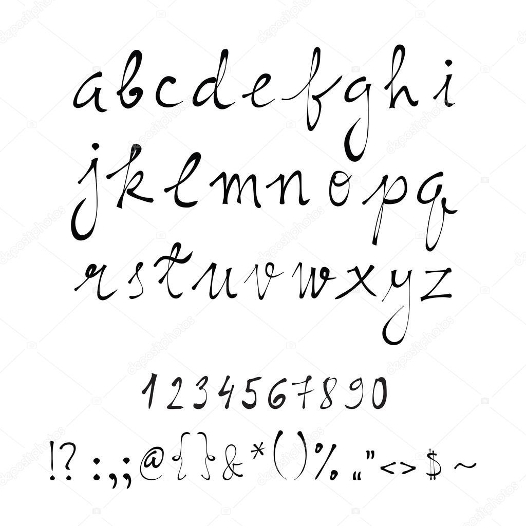 Vektör El Yazısı Harfler El Yazısı Stok Vektör Hellena13 118062490