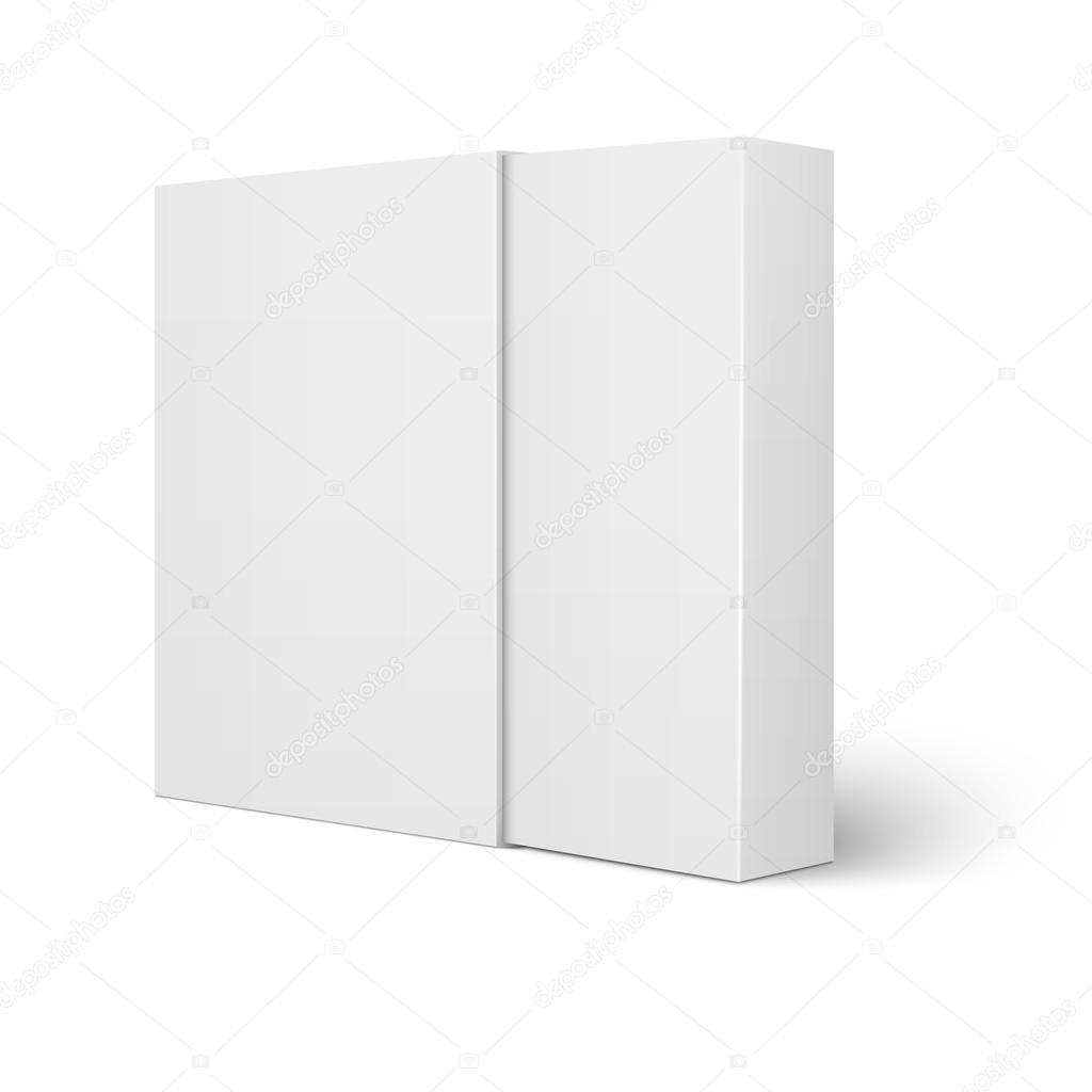Plantilla de caja de cartón blanca manga — Vector de stock ...