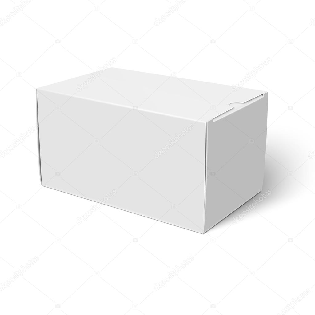 white closed cardbox box template stock vector gruffi 118733984
