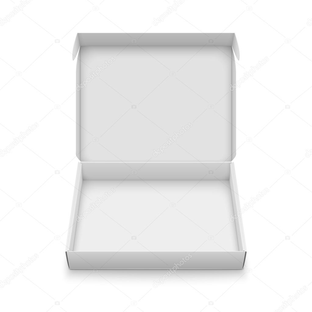 Slim cardboard box template. — Stock Vector © gruffi #118733996