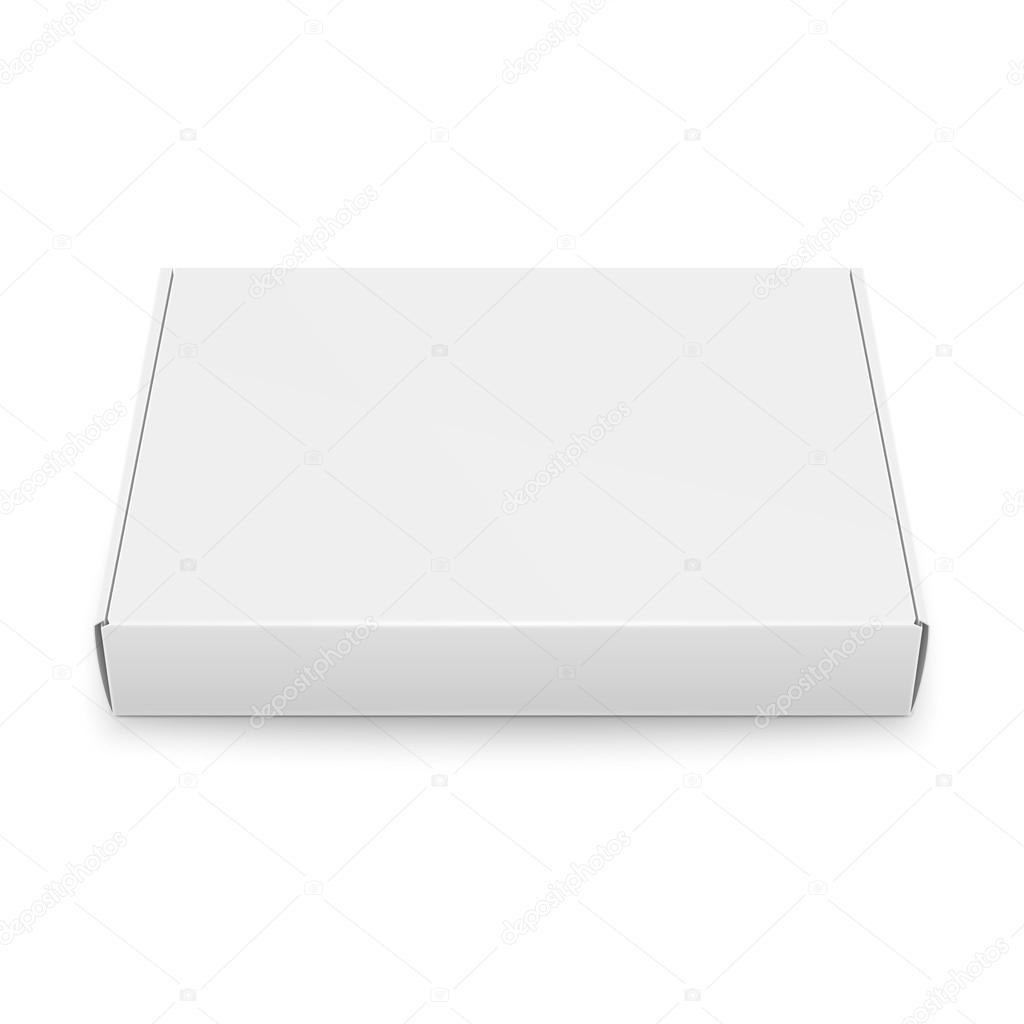Slim cardboard box template. — Stock Vector © gruffi #118734004